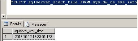 check sqlserver uptime